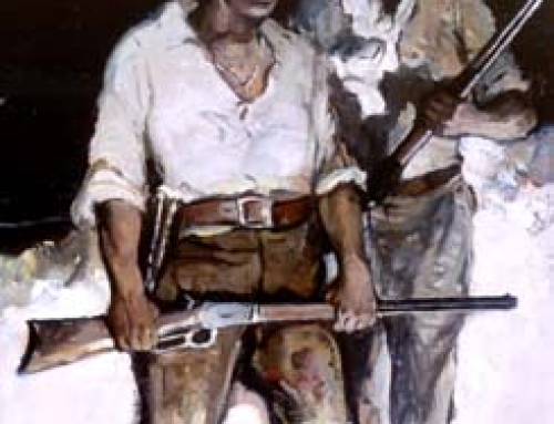 (1384cdl) Trappers With Rifles