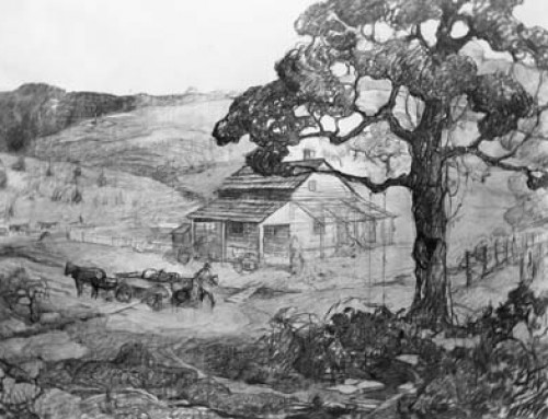 (2074sb) The Old Homestead in Hood County – Sketch 2
