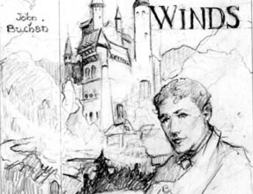 (2096s) The House of the Four Winds – Sketch for Dust Jacket
