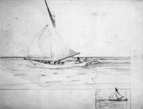 (2398s) Sailboat Cuba – Sketch