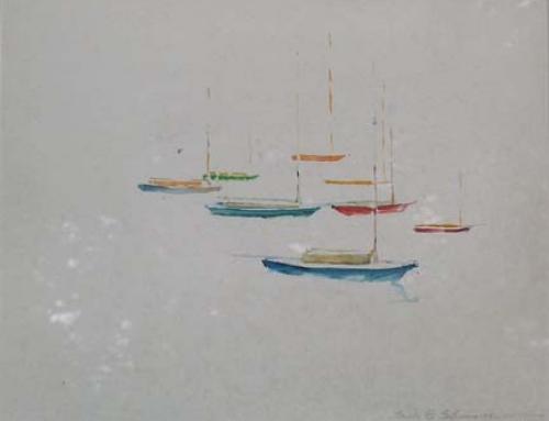 (2502c) Sailing Fleet in Rockport, Mass.
