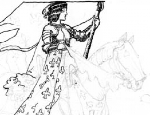 (0885as) Joan in Full War Regalia – Sketch